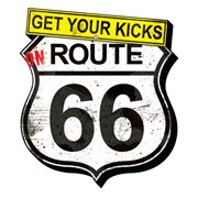 Route 66 Get Your Kicks Grunge Funky Chunky Magnet
