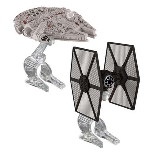Star Wars Hot Wheels Force Awakens First Order TIE Fighter vs. Millennium Falcon Vehicle 2-Pack