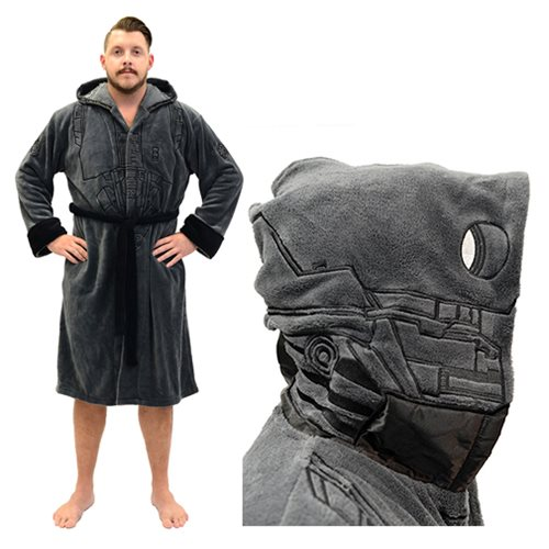 Star Wars Rogue One K-2SO Hooded Fleece Bathrobe