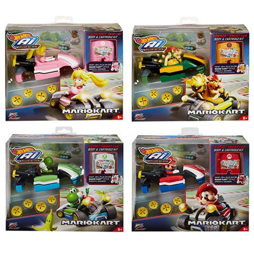 Hot Wheels AI Mario Kart Car Body and Cartridge Kit Case