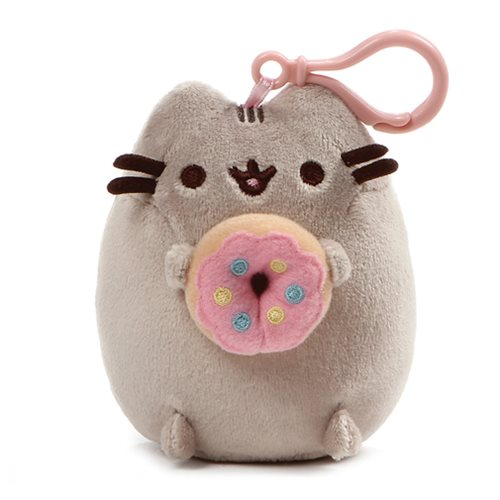Pusheen the Cat Pusheen Snackable Donut Backpack Clip-On Plush