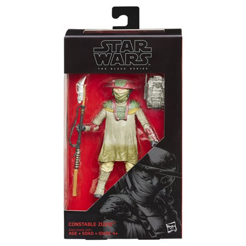 Star Wars: The Force Awakens Black Series Constable Zuvio Figure, Not Mint