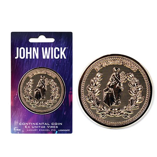 John Wick Continental Coin Luxury Enamel Pin
