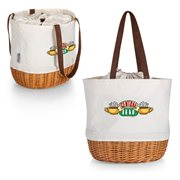 Friends Central Perk Coronado Beige Canvas and Willow Basket Tote