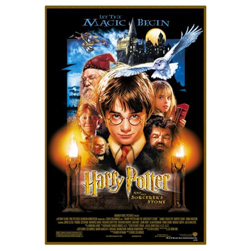 Harry Potter and the Sorcerer's Stone Movie Poster Wood Wall Art