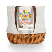Pixar Up Coronado Beige Canvas and Willow Basket Tote