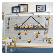 Minions at Work XL Chair Rail Prepasted Full Size Wall Mural