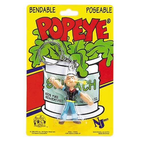 Popeye 3-Inch Bendable Key Chain
