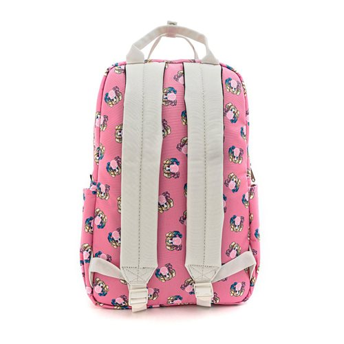 Harley Quinn Bubble Gum Pink Nylon Square Backpack