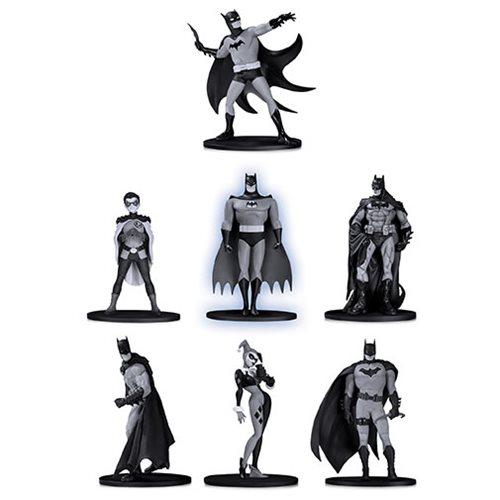Batman Black and White Mini Figure 7-Pack Box Set #2, Not Mint