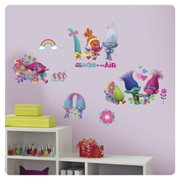 Trolls Peel and Stick Wall Decals with Glitter