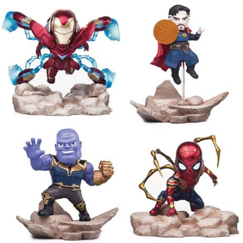 Avengers: Infinity War Mini Egg Attack MEA-003 Mini-Statue 4-Pack Set - Previews Exclusive