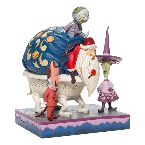 Disney Traditions Nightmare Before Christmas Lock, Shock, and Barrel with Santa Bagged and Delivered