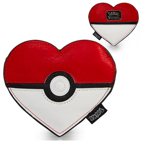 Pokemon Pokeball Heart-Shaped Coin Bag