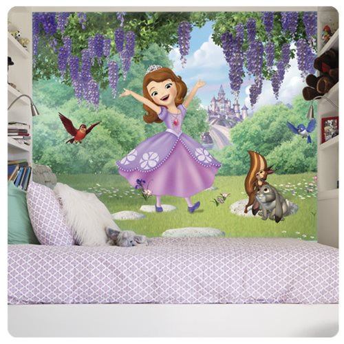 Sofia the First and Friends Garden XL Chair Rail Prepasted Mural