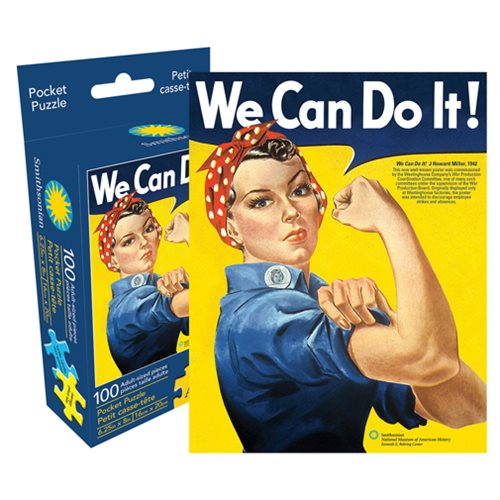 Rosie the Riveter 100-Piece Pocket Puzzle