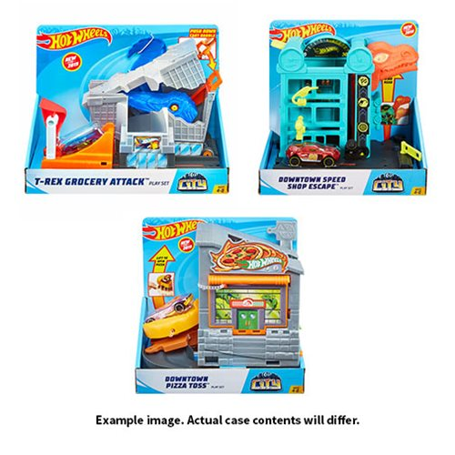 Hot Wheels City Downtown Playset Case