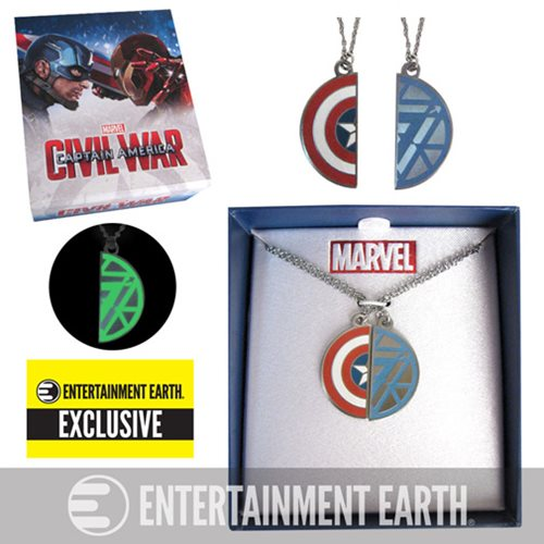 Captain America: Civil War Best Friends Necklace Set - Entertainment Earth Exclusive