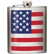 American Flag Hip Flask