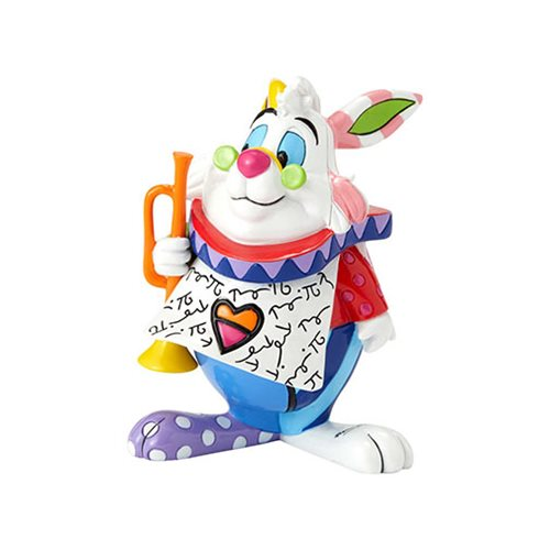 Disney Alice in Wonderland White Rabbit Mini Statue by Romero Britto