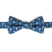 Aladdin Genie Scattered Blue Men's Bow Tie