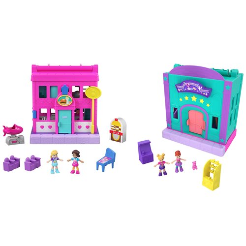 Polly Pocket Pollyville Stores Playset Case