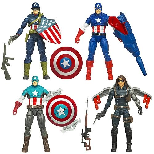 Captain America Movie Action Figures Wave 1 Set