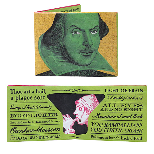 William Shakespeare Insult Wallet with Sound