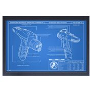 Star Trek: Discovery Phaser Blueprint Framed Art Print