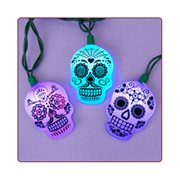 Day of the Dead Sugar Skull Color Changing Light Set