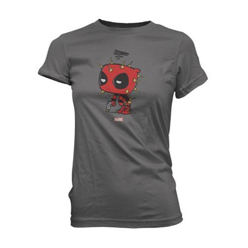 Deadpool Rubber Shots Super Cute Juniors T-Shirt