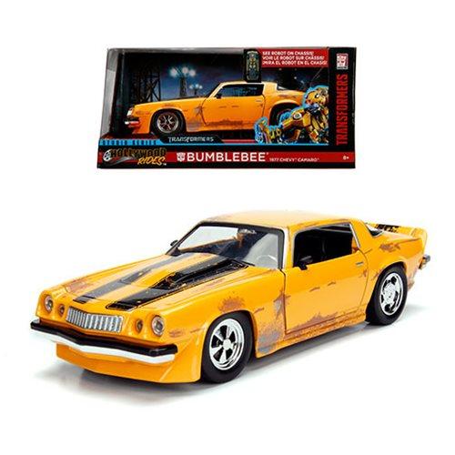 Transformers Bumblebee 1977 Chevy Camaro 1:24 Scale Die-Cast Metal Vehicle