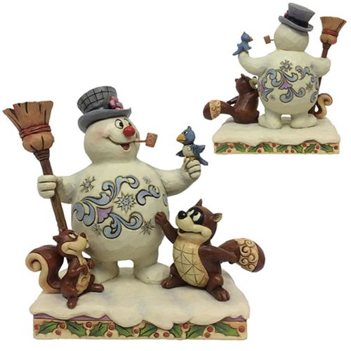 Frosty the Snowman Frosty and Woodland Friends Winter Friends Are The Coolest Statue by Jim Shore