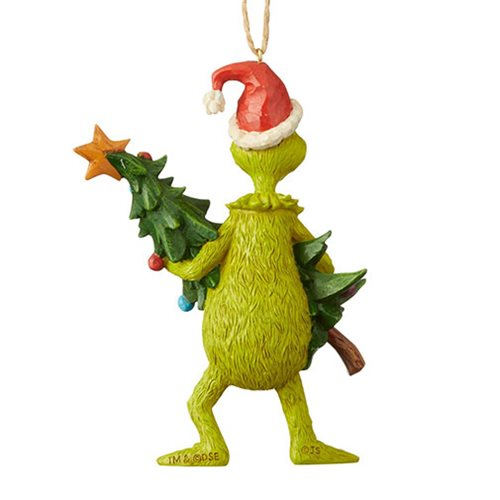 Dr. Seuss The Grinch Holding Tree Holiday Ornament
