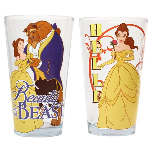 Beauty and the Beast 16 oz. Pint Glass 2-Pack