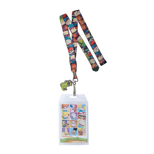 Rugrats Reptar Breakaway Lanyard with Badge Holder and Charm