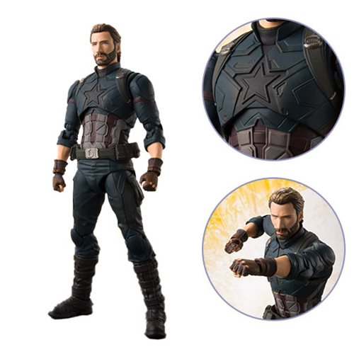 Avengers: Infinity War Captain America and Tamashii Effect Explosion S.H.Figuarts Action Figure