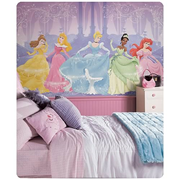 Disney Princess Chair Rail Prepasted Wall Mural