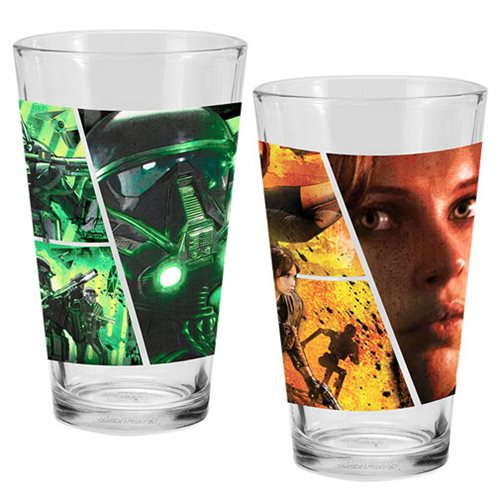 Star Wars: Rogue One 16 oz. Laser Decal Glass 2-Pack