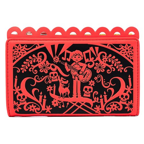 Coco Diecut Party Flags Flap Wallet