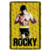 Rocky Stallion Stance Woven Tapestry Throw Blanket