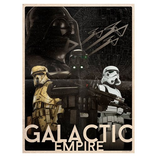 Star Wars Galactic Empire by Louis Solis Lithograph Art Print