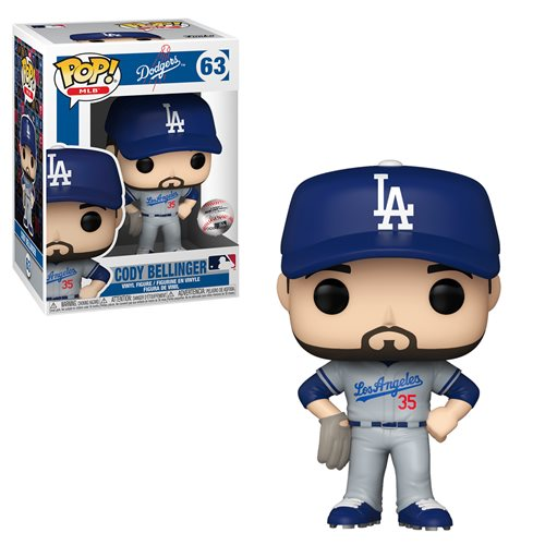 MLB Dodgers Cody Bellinger (Road Uniform) Pop! Vinyl Figure