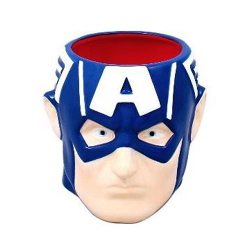 Captain America Head 3D Mug