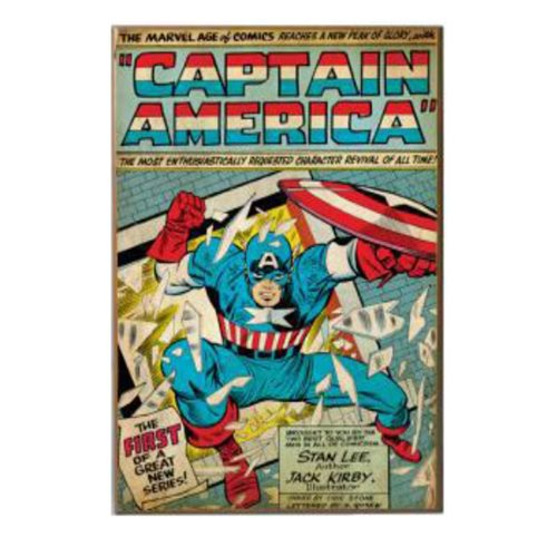 "Captain America ""The First"" 3D Wood Wall Art"