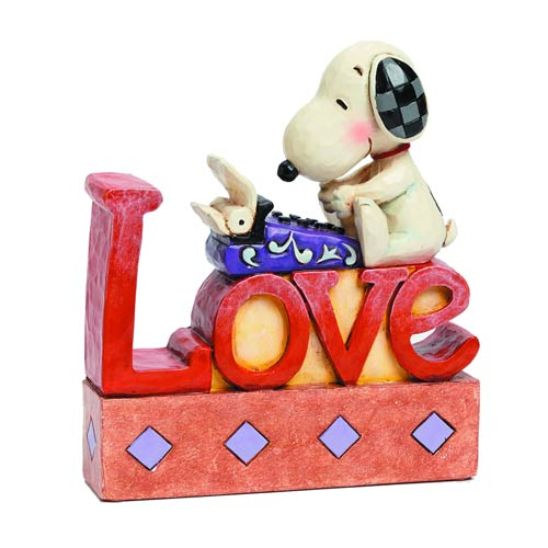 Peanuts Traditions Snoopy Love Plaque Statue