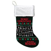Stranger Things Lights Black and White Printed Stocking