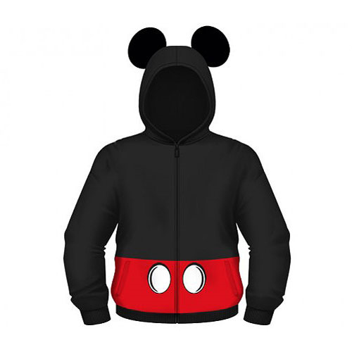 Mickey Mouse Hooded Costume Fleece Zip-Up Hoodie