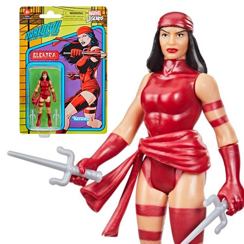 Marvel Legends Retro Elektra Action Figure