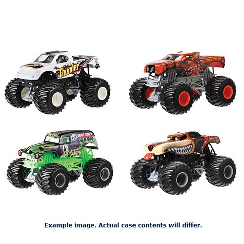 Hot Wheels Monster Jam 1:24 Scale 2017 Wave 13 Case